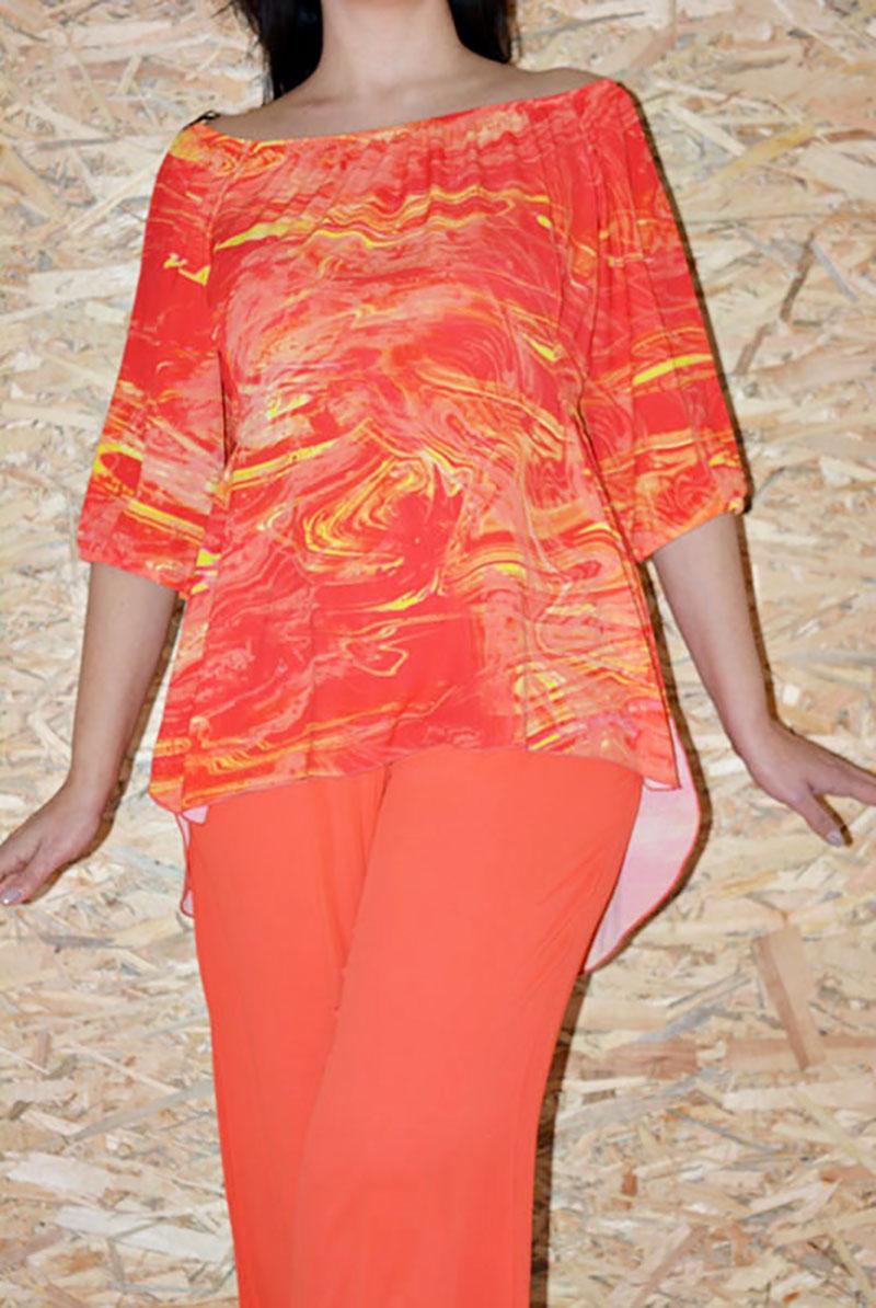 e43853dcd221 Μπλούζες  Μπλούζα ασύμμετρη κρέπ