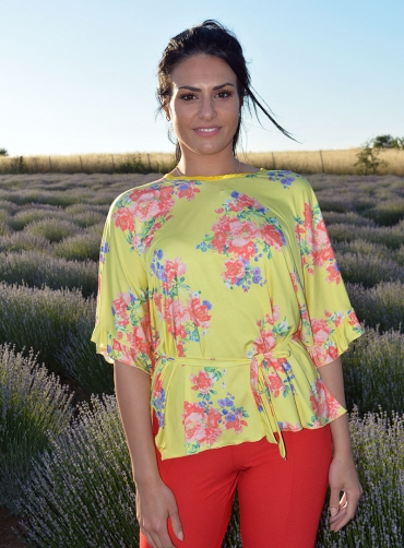 Μπλούζα jersey floral