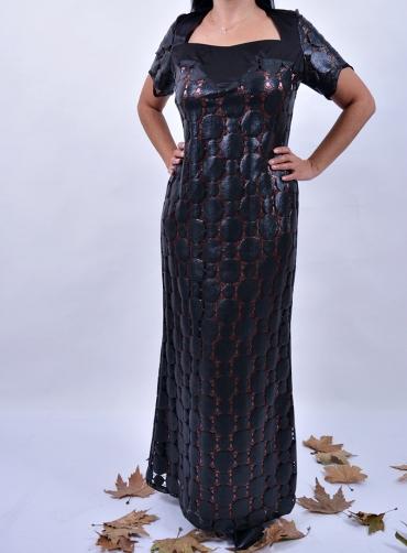 Φόρεμα maxi δερματίνη