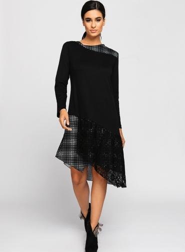 Φόρεμα ελαστικό ασύμμετρο καρό