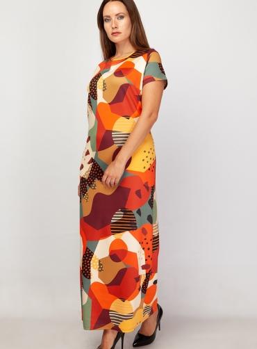 Φόρεμα scuba ελαστικό εμπριμέ
